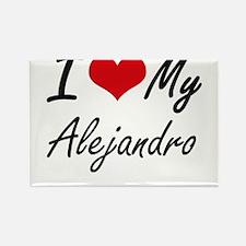 I Love My Alejandro Magnets