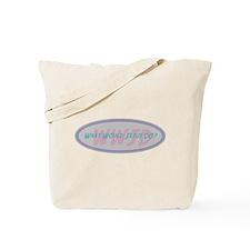 Pink Retro WWJD Tote Bag