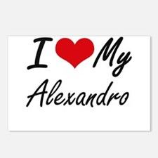 I Love My Alexandro Postcards (Package of 8)