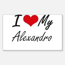 I Love My Alexandro Decal
