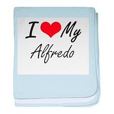 I Love My Alfredo baby blanket