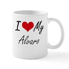 I Love My Alvaro Mugs