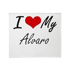 I Love My Alvaro Throw Blanket