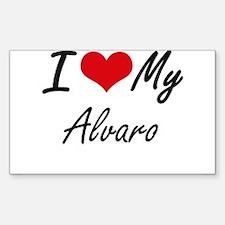 I Love My Alvaro Decal