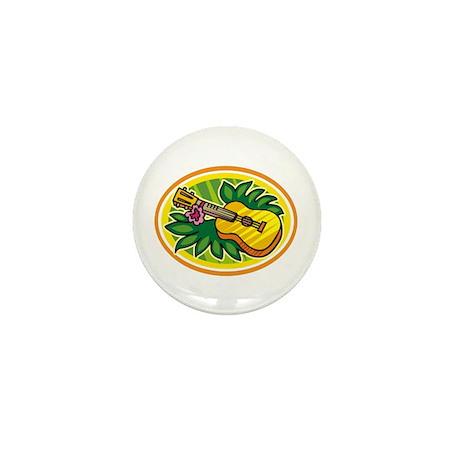 Hawaiian Ukulele Luau - Retro Mini Button (100 pac