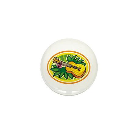 Hawaiian Ukulele Luau - Retro Mini Button