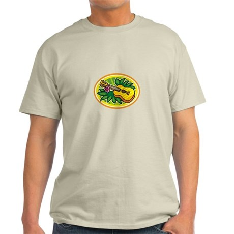 Hawaiian Ukulele Luau - Retro Light T-Shirt
