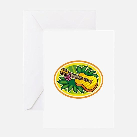 Hawaiian Ukulele Luau - Retro Greeting Card