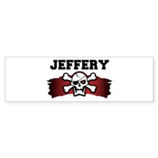 jeffery is a pirate Bumper Bumper Sticker