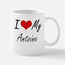 I Love My Antoine Mugs