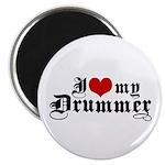 I Love My Drummer Magnet