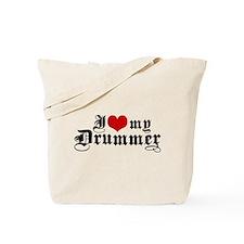 I Love My Drummer Tote Bag