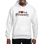 I Love My Drummer Hooded Sweatshirt