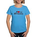 I Love My Drummer Women's Dark T-Shirt