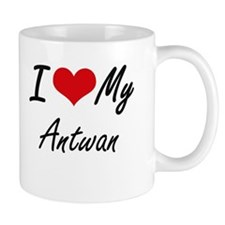 I Love My Antwan Mugs