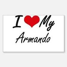 I Love My Armando Decal