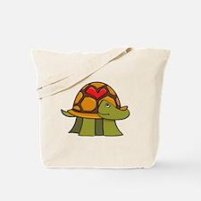 Turtle Shell Heart Tote Bag