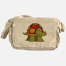 Turtle Shell Heart Messenger Bag
