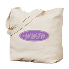 Pink Blue WWJD Tote Bag