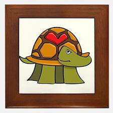 Turtle Shell Heart Framed Tile