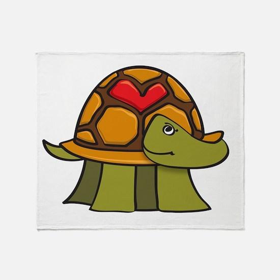 Turtle Shell Heart Throw Blanket