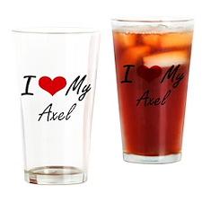 I Love My Axel Drinking Glass