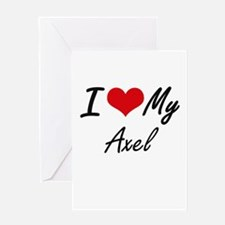 I Love My Axel Greeting Cards