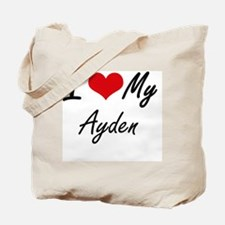 I Love My Ayden Tote Bag