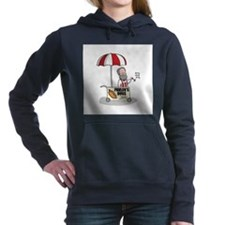 Cute Food nerd Women's Hooded Sweatshirt