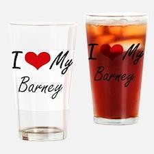 I Love My Barney Drinking Glass