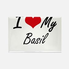 I Love My Basil Magnets