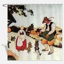 Flemish Fairy Tale - White Caroline Shower Curtain