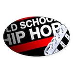 OLD SCHOOL Oval Sticker