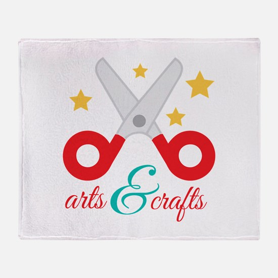 Arts & Crafts Throw Blanket