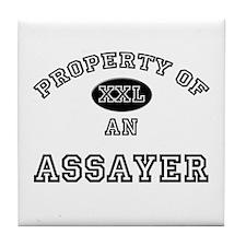 Property of an Assayer Tile Coaster