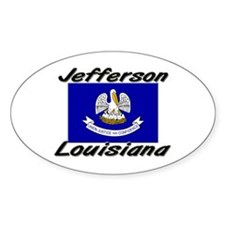 Jefferson Louisiana Oval Decal
