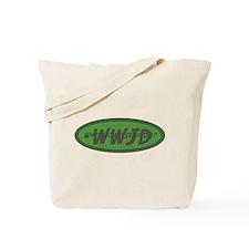 Green WWJD Tote Bag