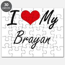 I Love My Brayan Puzzle