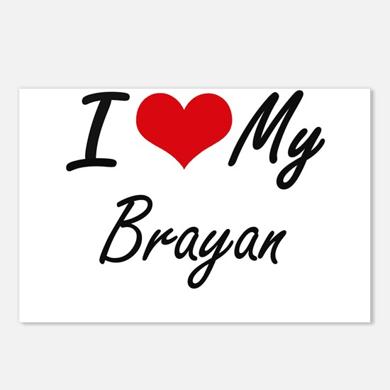 I Love My Brayan Postcards (Package of 8)