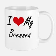 I Love My Brennen Mugs