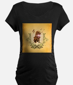 Awesome microphone Maternity T-Shirt