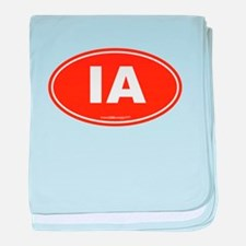 Iowa IA Euro Oval baby blanket