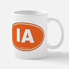 Iowa IA Euro Oval Mug