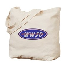Blue Red White WWJD Tote Bag