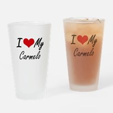 I Love My Carmelo Drinking Glass