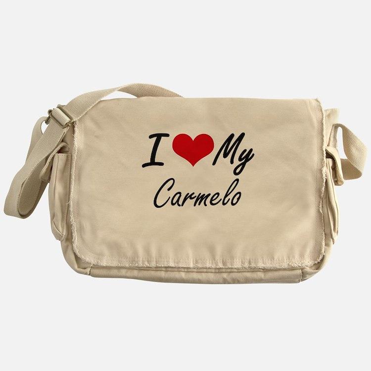 I Love My Carmelo Messenger Bag