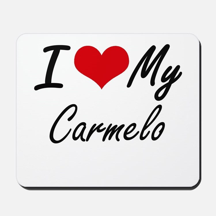 I Love My Carmelo Mousepad