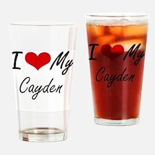Cute Cayden Drinking Glass