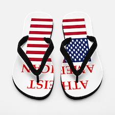 athiest american Flip Flops