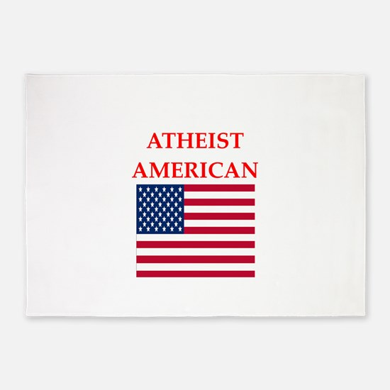 athiest american 5'x7'Area Rug